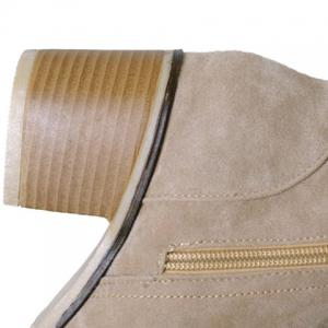 Fashionable Suede and Chunky Heeled Design Women's Short Boots - APRICOT 36