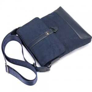Simple PU Leather and Solid Colour Design Men's Messenger Bag -