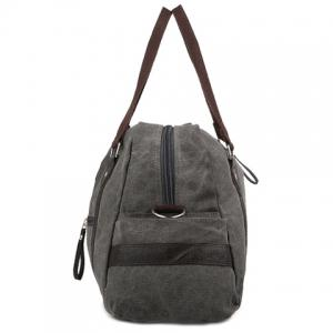Leisure Zipper and Canvas Design Men's Messenger Bag - GRAY