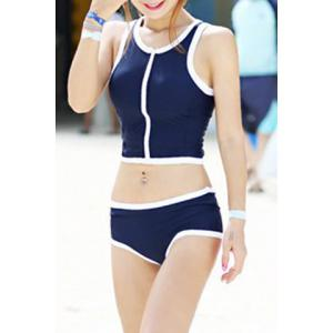 Active Scoop Neck Push Up Two-Piece Swimsuit For Women -