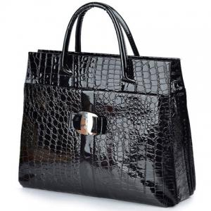 Fashionable Embossing and Metal Design Women's Tote Bag -