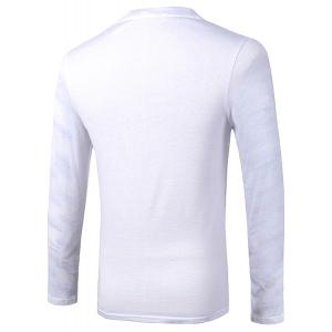 Casual Pullover Skull With Glasses 3D Printing Long Sleeve Sweatshirt For Men - WHITE M