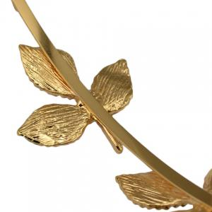 Fresh Style Solid Color Leaf Hairband For Women - GOLDEN