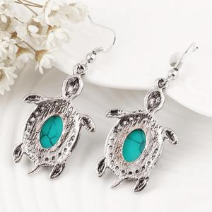 Retro Faux Crystal Tortoise Shape Jewelry Set - GREEN