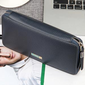Simple Lichee Pattern and PU Leather Design Men's Clutch Bag -