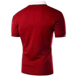Sleeve Polo T-Shirt Slim Casual Fit Turn Down Collar Solid Color court pour les hommes -