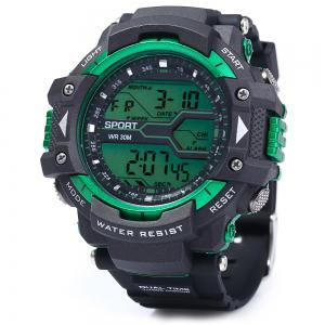 8338G Alarm Day Date Stopwatch Display Men LED Sports Watch -