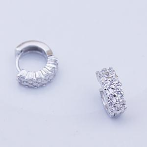 Pair of Charming Rhinestone Circular Earrings For Women -