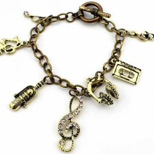 Retro Multielement Design Charm Bracelet -