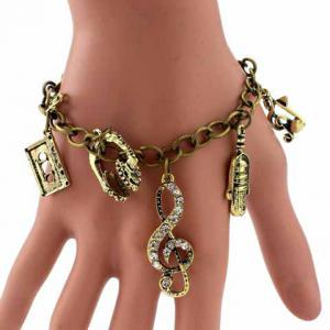Retro Multielement Design Charm Bracelet - As The Picture