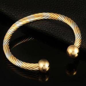 Cable Wire Cuff Bracelet -