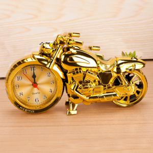 Cool Motorcycle Style Electronic Alarm Clock Creative Desk Ornaments -
