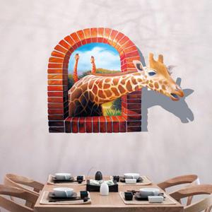 Giraffe Animal Removable 3D Wall Sticker For Kid's Room -