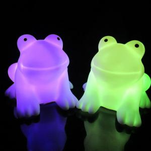Magic LED Frog Night Light PVC Novelty Lamp Changing Color Toy - AS THE PICTURE