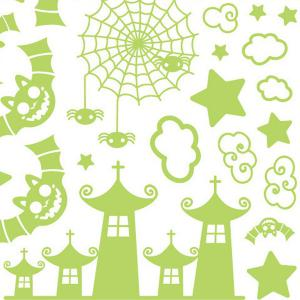 Cute Castle and Batman Pattern Removable DIY Wall Sticker For Children's Room -
