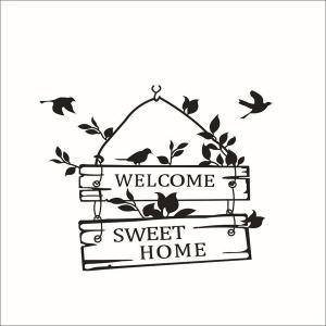 Hot Sale Welcome Sweet Home Wall Sticker For Living Room -