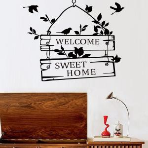 ... Hot Sale Welcome Sweet Home Wall Sticker For Living Room ... Part 51