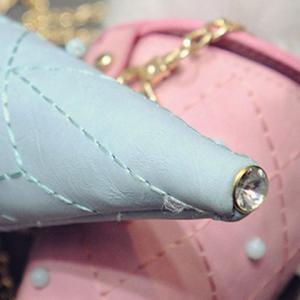 Cute Argyle and Ice Cream Shape Design Women's Crossbody Bag -