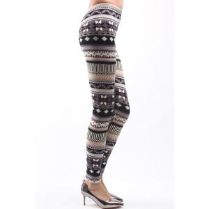 Trendy Embroidery Bodycon High Waist Leggings For Women -
