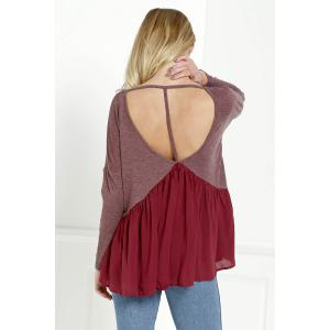 Low Cut Backless Swing Tee -