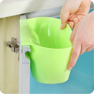 Practical Kitchen Trash Can Waste Container Hanging Storage Box Fruit Vegetable Organizer Pot -