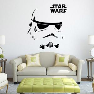 w-12 Stormtrooper Style Removable Wall Sticker Water Resistant Home Art Decals -
