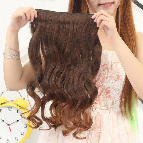 Shops Fashion Fluffy Curly Stunning Long Brown Ombre Clip In Synthetic Hair Extension For Women - OMBRE 1211#  Mobile