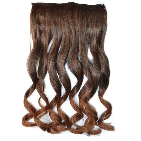 Best Fashion Fluffy Curly Stunning Long Brown Ombre Clip In Synthetic Hair Extension For Women OMBRE
