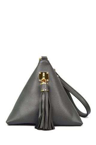 Outfit Stylish Triangle Shape and Tassel Design Women's Clutch Bag