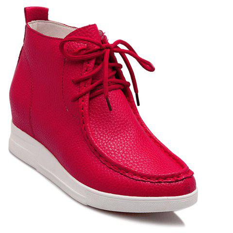 Cheap Trendy Solid Colour and Stitching Design Women's Athletic Shoes