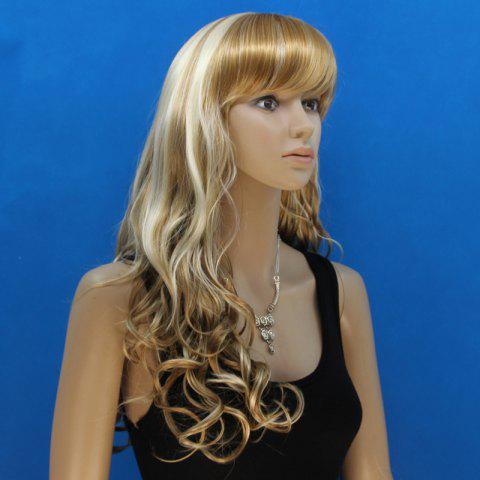 Discount Attractive Full Bang Synthetic Shaggy Curly Capless Stylish Blonde Mixed Flax Long Wig For Women - COLORMIX  Mobile
