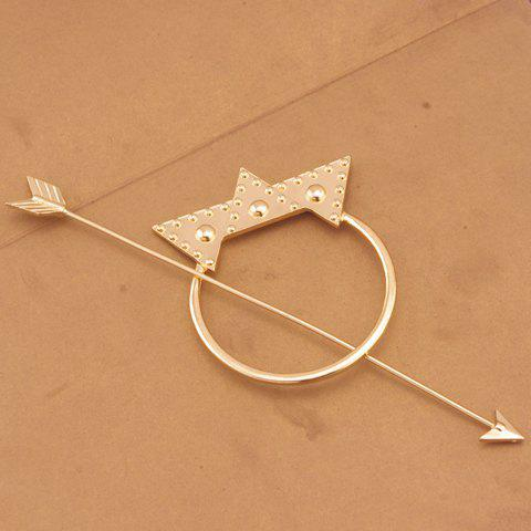 Outfits Vintage Arrow Shape Triangle Hairpin For Women GOLDEN