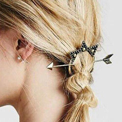 Best Vintage Arrow Shape Triangle Hairpin For Women - SILVER  Mobile
