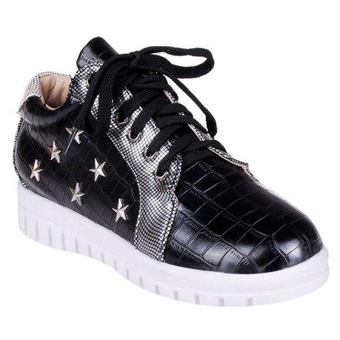 Trendy Stylish Stone Pattern and Pentagrams Design Women's Athletic Shoes