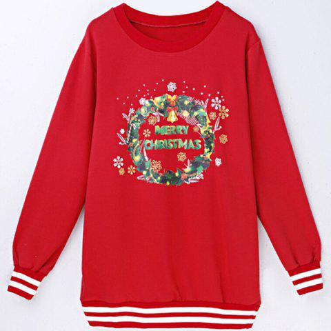 Shop Women's Trendy Christmas Tree Long Sleeve Round Neck Sweatshirt