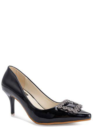 Outfits Stylish Square Buckle and Solid Color Design Women's Pumps
