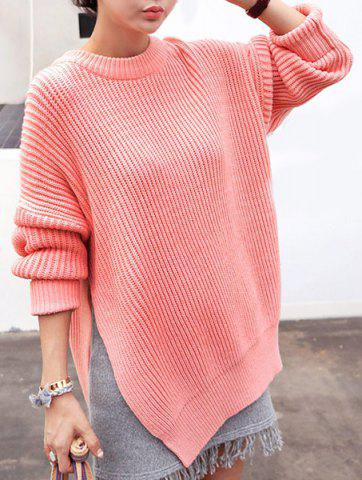 Unique Stylish Women's Round Neck Long Sleeve High Furcal Sweater