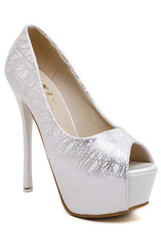 Best Party Lines and Stiletto Heel Design Women's Peep Toe Shoes