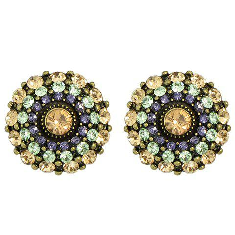 Best Pair of Graceful Rhinestoned Blossom Earrings For Women