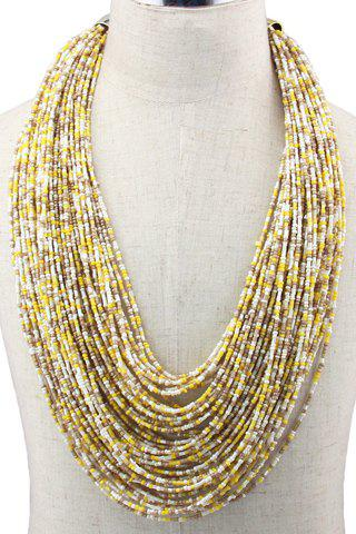 Online Bohemian Style Multilayered Beads Necklace For Women