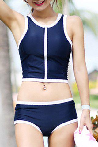 New Active Scoop Neck Push Up Two-Piece Swimsuit For Women