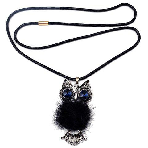Outfit Stunning Rhinestone Plush Owl Shape Sweater Chain For Women