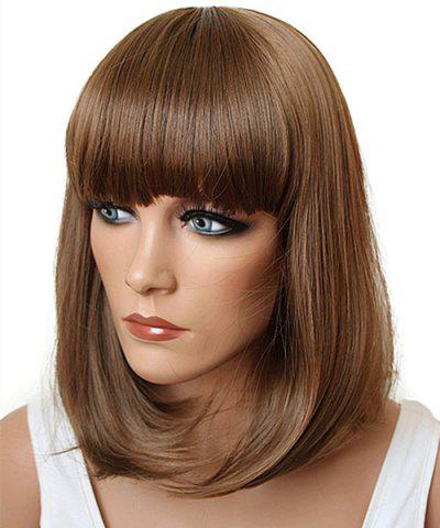 Discount Assorted Color Fashion Medium Synthetic Bob Style Straight Full Bang Cosplay Wig For Women