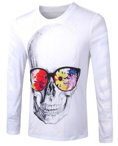Buy Casual Pullover Skull With Glasses 3D Printing Long Sleeve Sweatshirt For Men