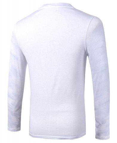 Unique Casual Pullover Skull With Glasses 3D Printing Long Sleeve Sweatshirt For Men - M WHITE Mobile