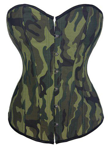 Affordable Stylish Strapless Camouflage Print Lace-Up Women's Corset