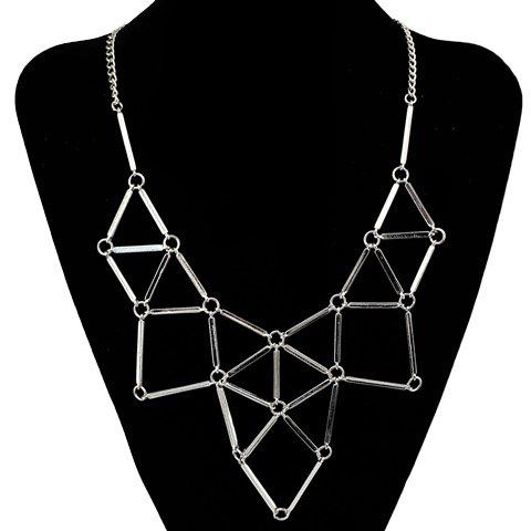 Affordable Triangle Hollow Out Necklace
