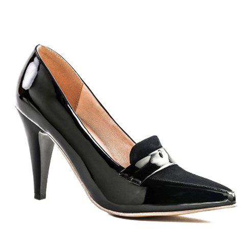 Fashion Elegant Splice and Solid Color Design Women's Pumps - 39 BLACK Mobile
