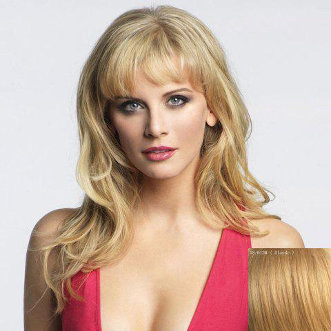 Fashion Charming Long Capless Shaggy Wavy Trendy Side Bang Real Natural Hair Wig For Women