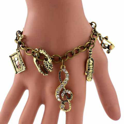 Outfits Retro Multielement Design Charm Bracelet - AS THE PICTURE  Mobile